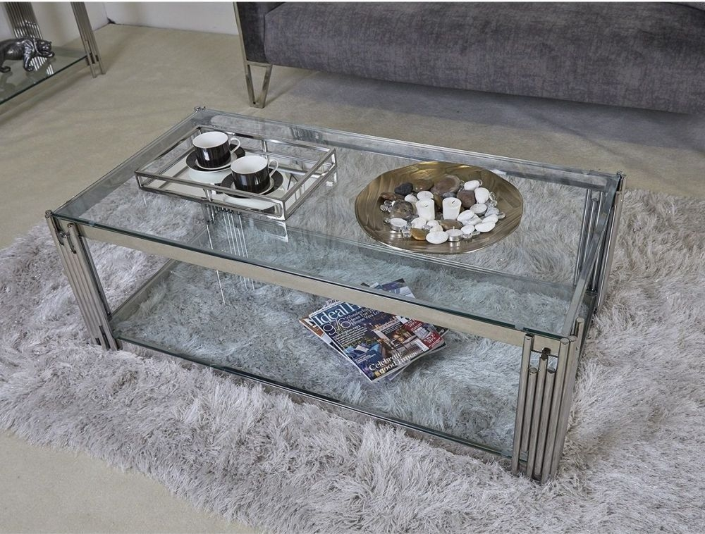 Chrome And Glass Coffee Table Uk 4