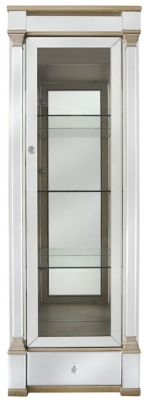 Grayton Champagne Mirrored 1 Right Door Display Cabinet