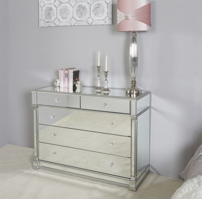 Grayton Champagne Mirrored Chest
