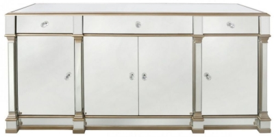 Grayton Champagne Mirrored Sideboard