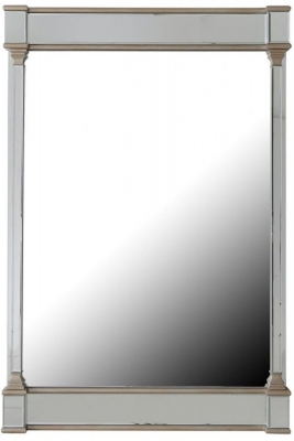 Grayton Champagne Rectangular Wall Mirror