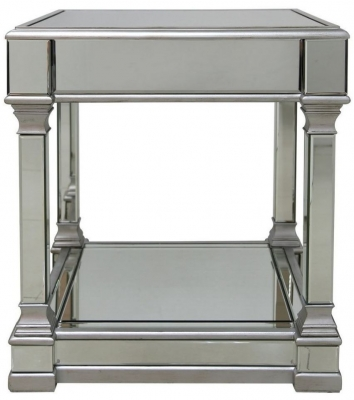 Hamilton Mirrored End Table