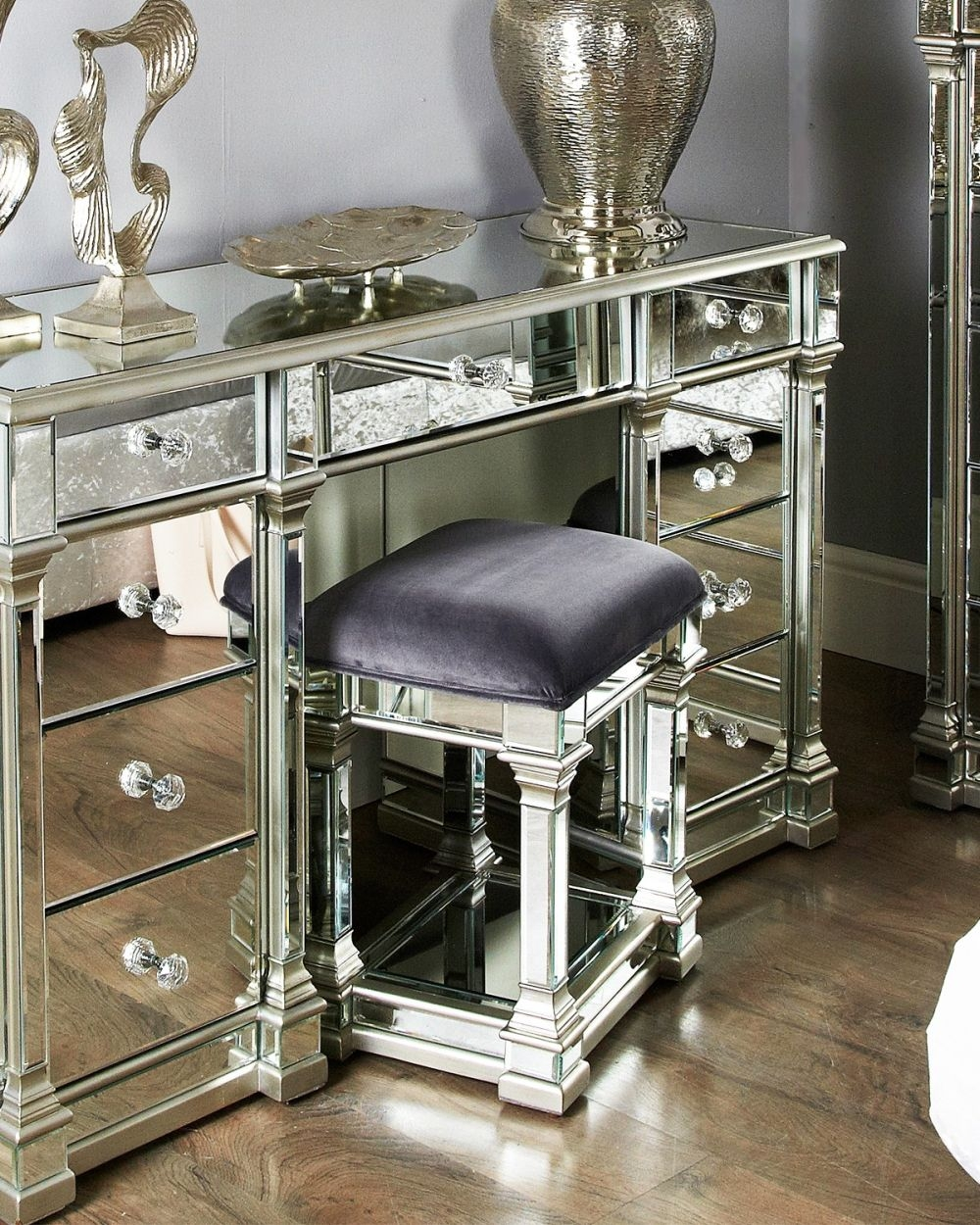 Hamilton Mirrored Stool