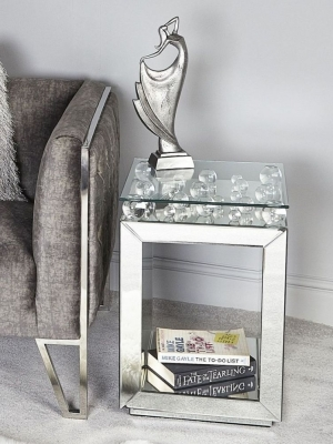 Harbor Mirrored Lamp Table