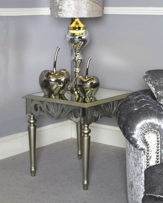 Harmony Mirrored End Table