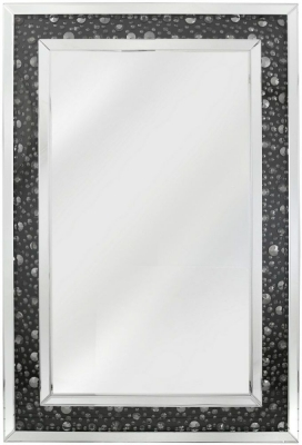 Messina Black Gem Wall Mirror