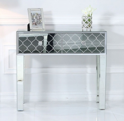 Prentice Mirrored Console Table