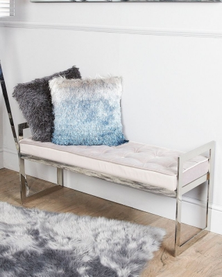 Shay Stainless Steel Bench