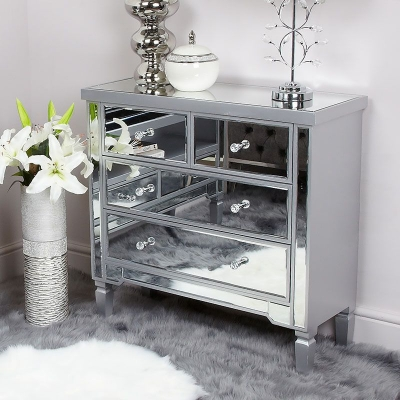 Shore Mirrored 2+2 Drawer Chest