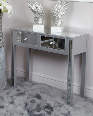 Shore Silver Mirrored Console Table
