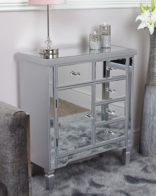 Shore Silver Wood Cabinet