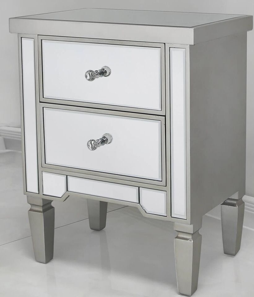 Shore Mirrored Bedside Cabinet