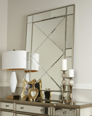 Trinel Gold Wall Mirror