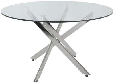 Ville Glass 130cm Round Dining Table