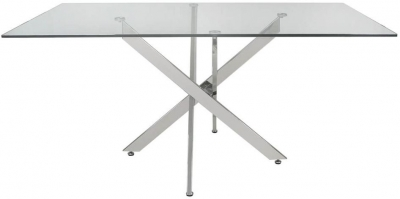 Ville Glass 160cm Rectangular Dining Table