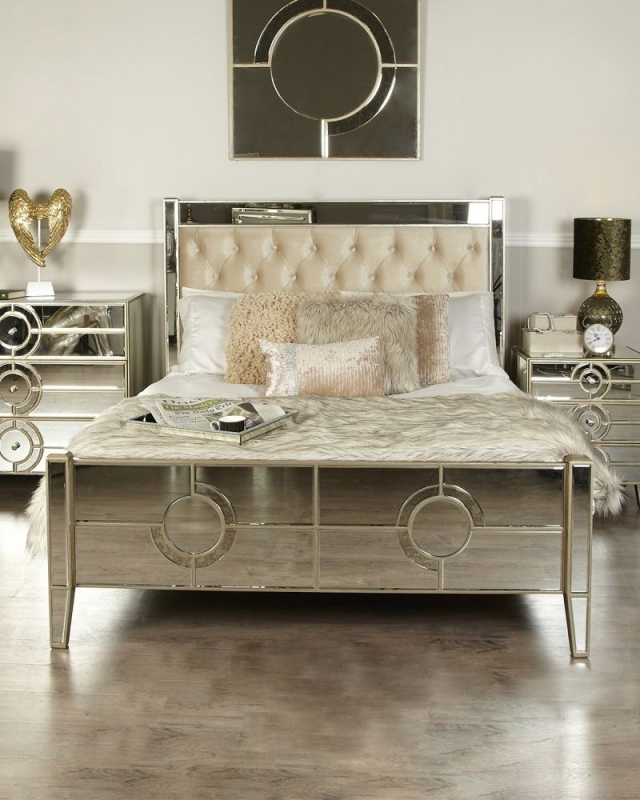 Zuo Mirrored King Size Bed