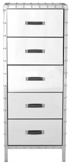 Antonio Mirrored 5 Drawer Chest