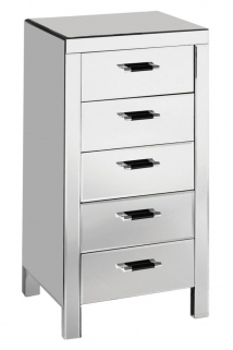 Dallas Mirrored 5 Drawer Chest