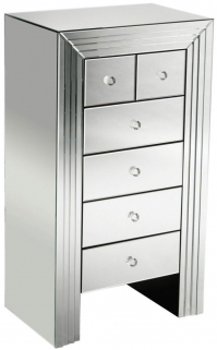 Dallas Mirrored 6 Drawer Chest