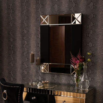Diego Champagne Rectangular Wall Mirror