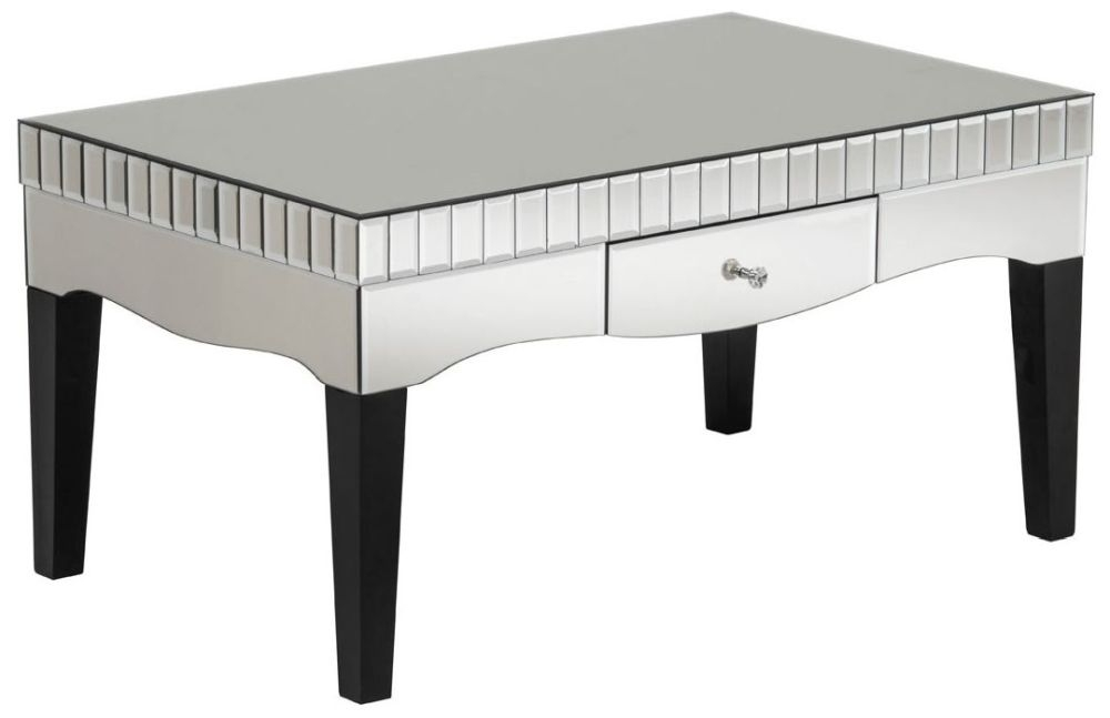 Diego Champagne Mirrored Coffee Table