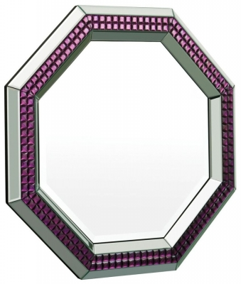 Madison Purple Glass Mirror