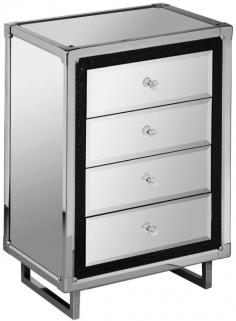 Seattle Mirrored 4 Drawer Chest