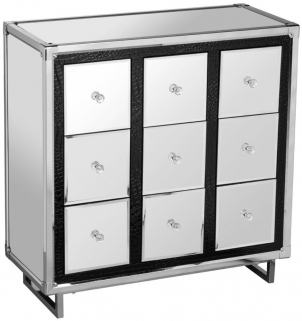 Seattle Mirrored 9 Drawer Chest