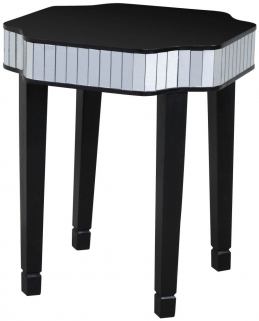 Vegas Black Glass Side Table