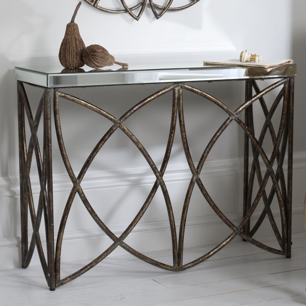 Austin Aged Bronze Console Table