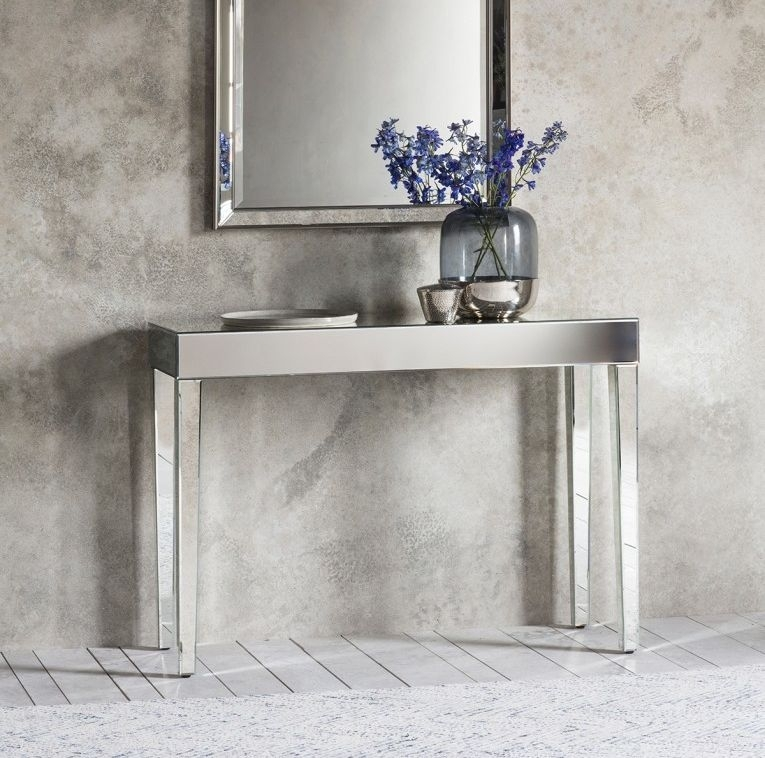 Austin Mirrored Console Table