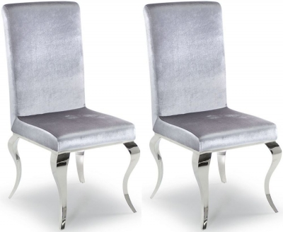 Boise Silver Dining Chair (Pair)