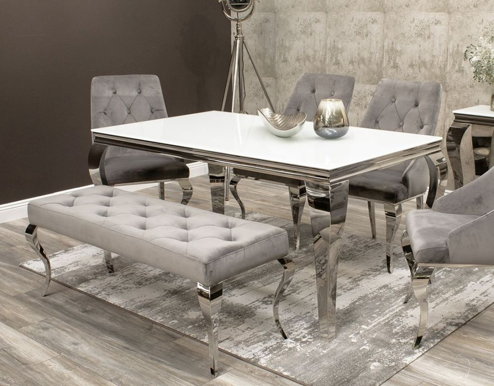 Boise Grey Small Bench