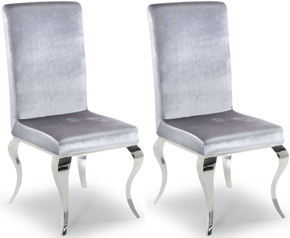 Boise Silver Dining Chair (Pair)