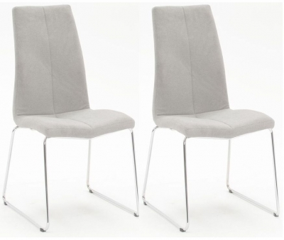 Gibson Grey Fabric Dining Chair (Pair)