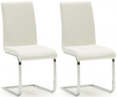 Morgan White Dining Chair (Pair)