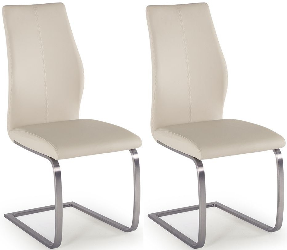 Empire Taupe Faux Leather Dining Chair (Pair)