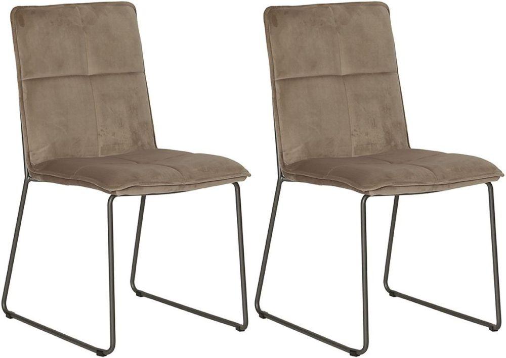 Ruby Mink Velvet Dining Chair (Pair)