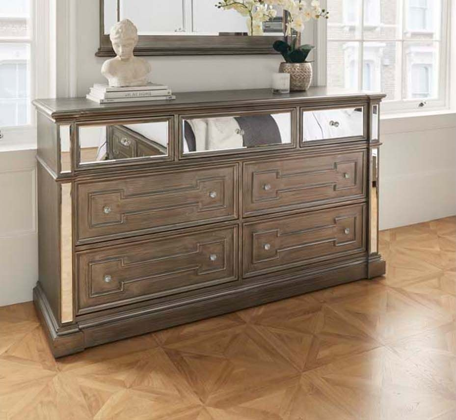 Pittsburgh Silver Mirror Panel Dressing Chest