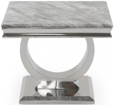 Tucson Grey Marble Lamp Table