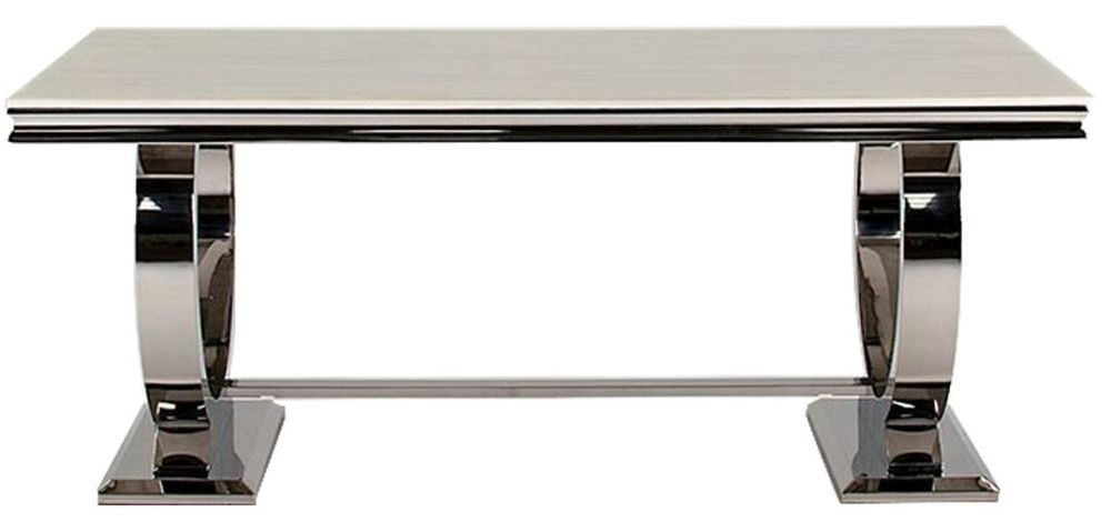Tucson Cream Marble 180cm Rectangular Dining Table