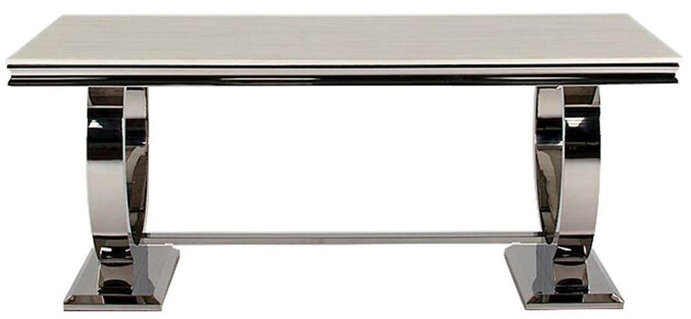 Tucson Cream Marble 200cm Rectangular Dining Table