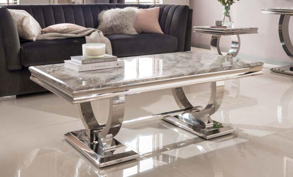 Tucson Grey Marble Coffee Table
