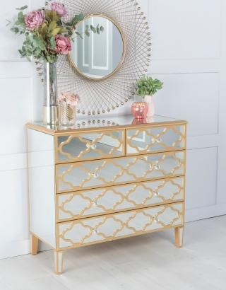 Mirrored Mobel Uk, Venetian Mirrored Bedroom Furniture Uk