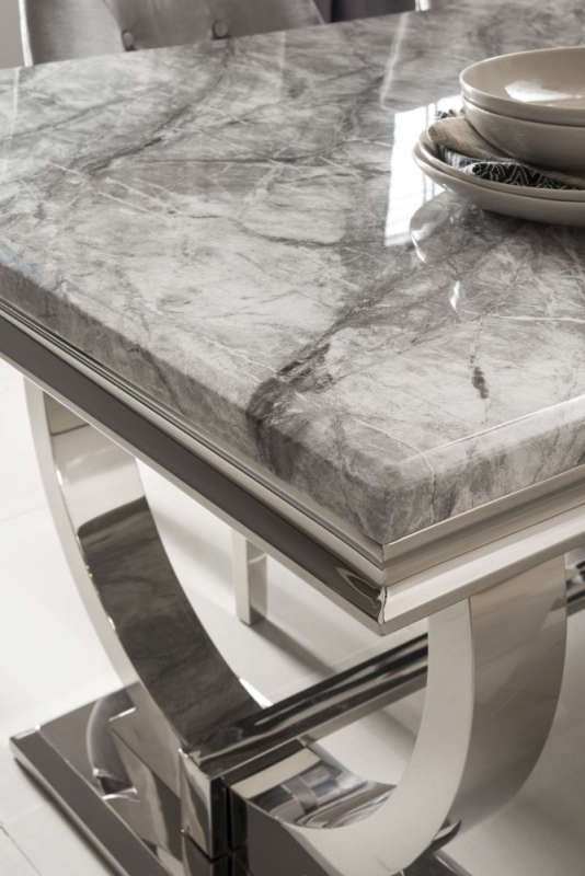 Tucson Grey Marble 180cm Rectangular Dining Table