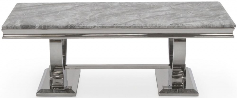 Tucson Grey Marble Coffee Table