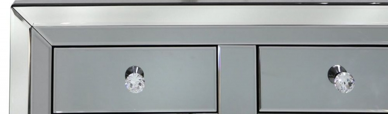 Leo Smoked and Clear Mirrored Cabinet