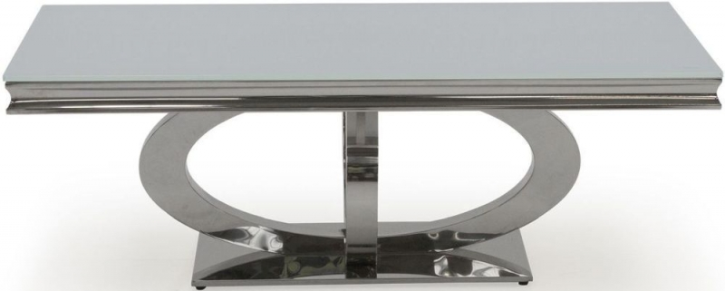 Nashville White Glass Top Coffee Table