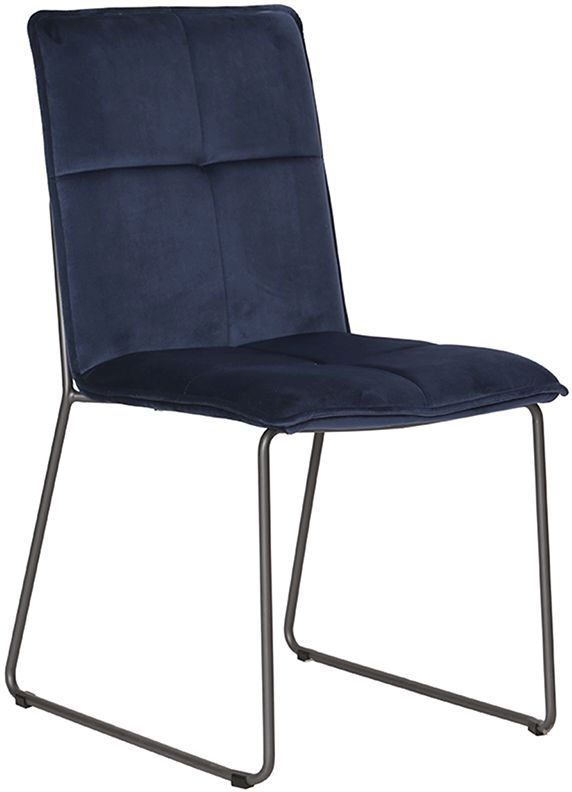 Ruby Blue Velvet Dining Chair (Pair)