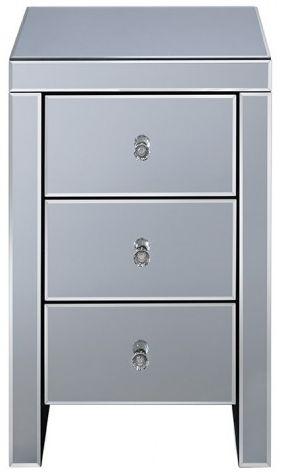 Belfast Mirrored 3 Drawer Bedside Cabinet